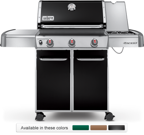 Weber Genesis E 320 gas grill color choices