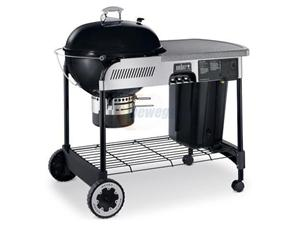 weber performer grill table space and rack