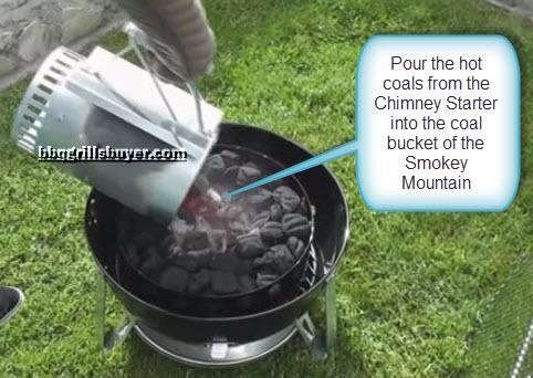 Pour the coals